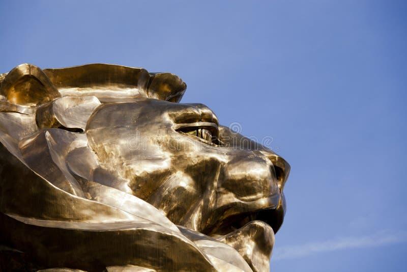 León en Las Vegas foto de archivo
