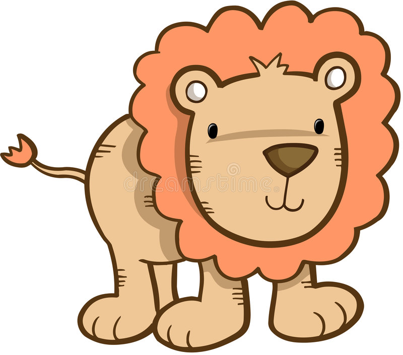 León lindo del safari libre illustration