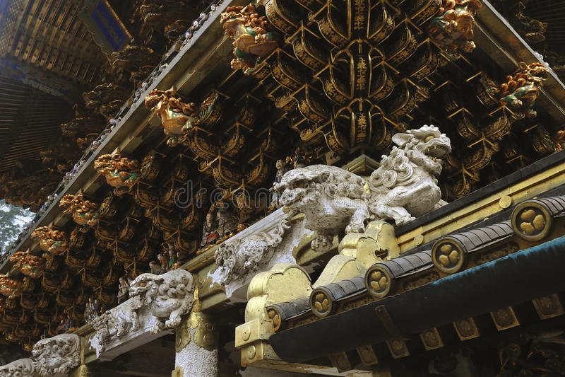 Leões cinzelados imagens de stock royalty free