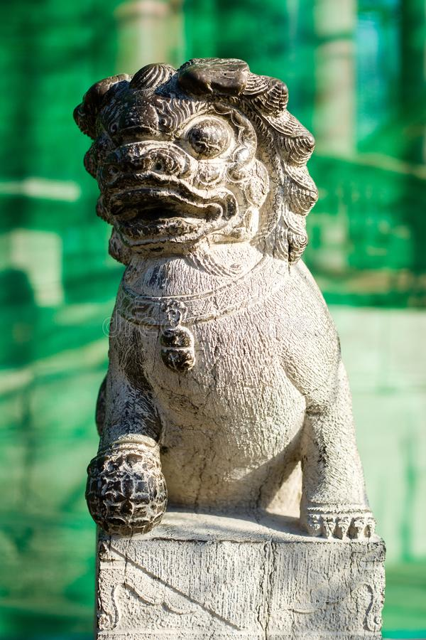 Leões da pedra de China fotos de stock
