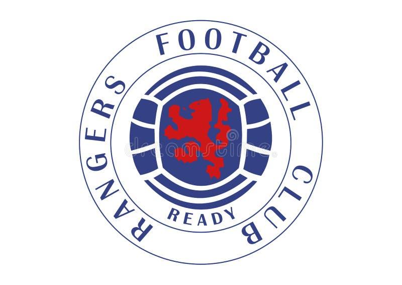 Leśniczego futbolu klubu logo royalty ilustracja