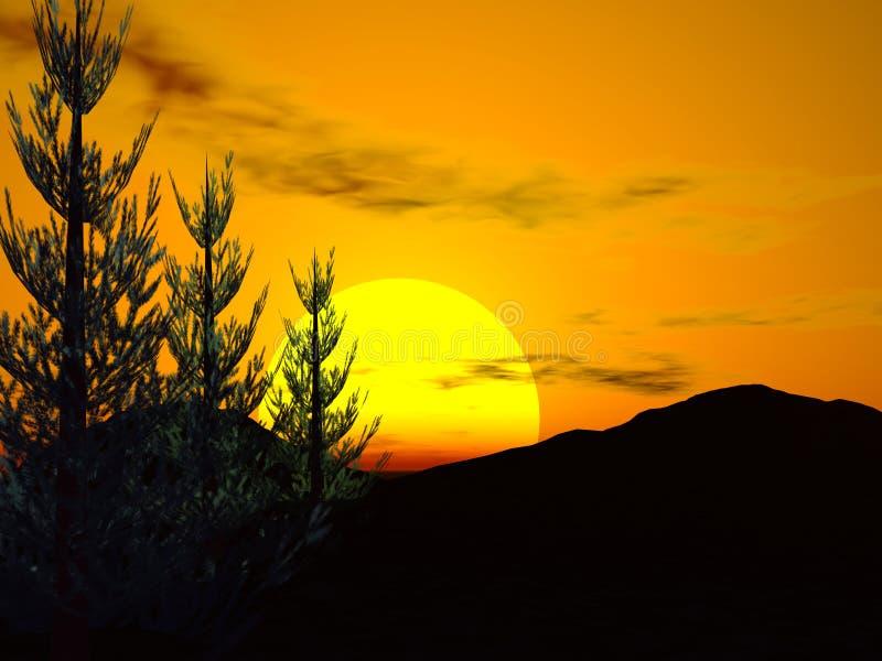 leśny słońca ilustracja wektor