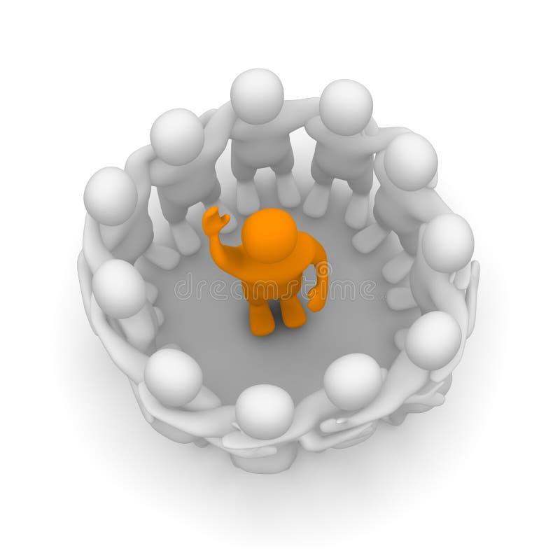 leżanki drużyna royalty ilustracja