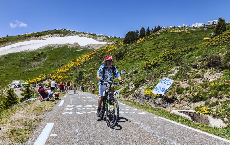Le环法自行车赛爱好者  免版税库存图片