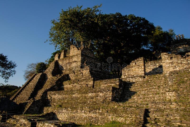 Le ¡ de ToninÃ, site archéologique a ruiné la ville de la civilisation de Maya photos stock