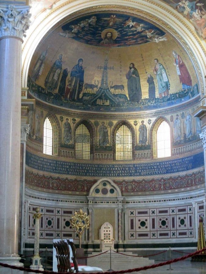 Le ¡ n de San Juan de Letrà de basilique est l'église la plus ancienne au monde l'Italie Roma image libre de droits