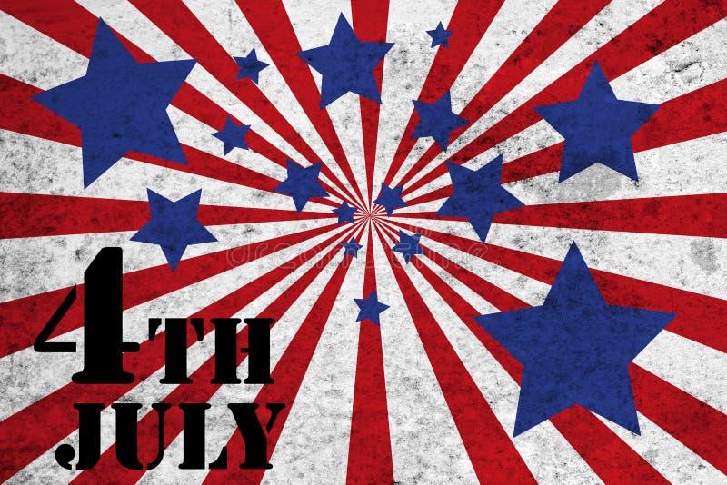 le 4ème juillet illustration stock