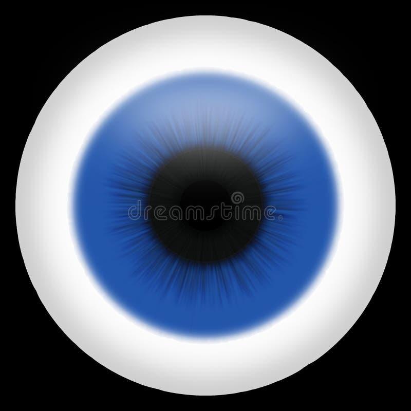 Le œil bleu illustration libre de droits