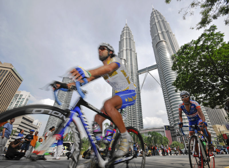 le 2009 Tour de Langkawi, Kuala Lumpur, Malesia. fotografia stock