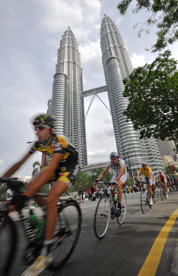 le 2009 Tour de Langkawi, Kuala Lumpur, Malesia. immagine stock
