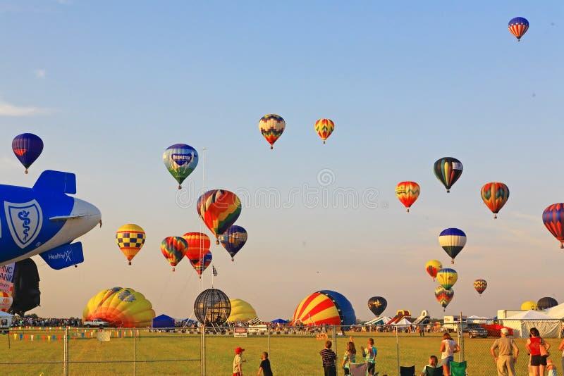 Le 26ème festival annuel de ballon du New Jersey images stock