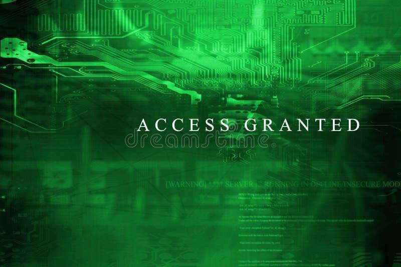 Le ` Access a accordé le ` à l'écran de système informatique illustration stock