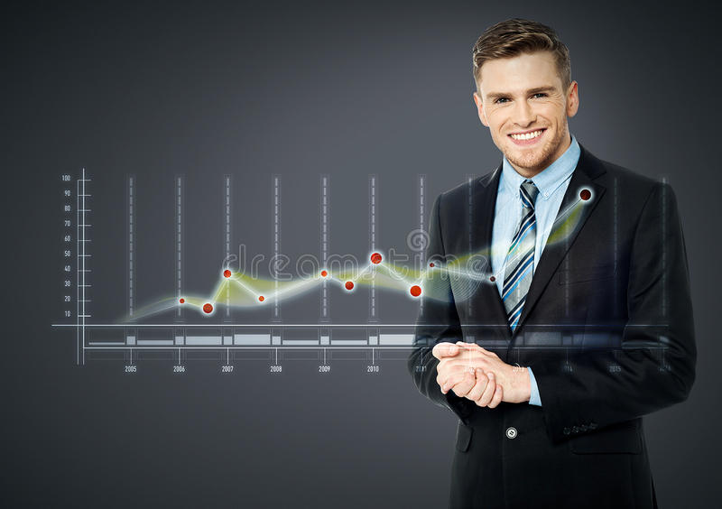 Le affärsmannen och affärsstrategi arkivfoto