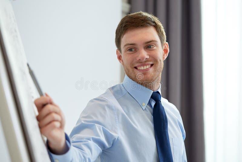 Le affärsmannen på presentation i regeringsställning royaltyfri fotografi