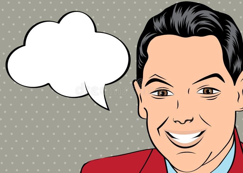 Le affärsmannen, stil för popkonst vektor illustrationer