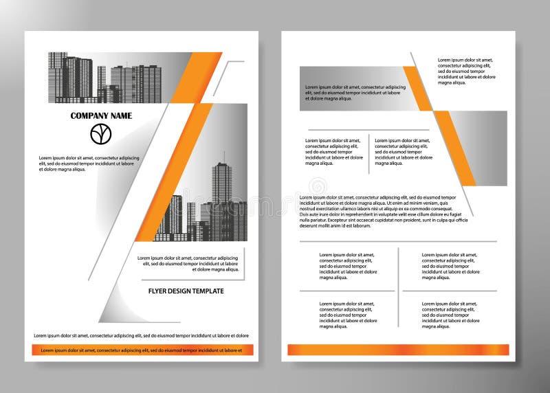 Le alette di filatoio minime riferiscono il modello della cartella della disposizione del manifesto della rivista economica Vetto royalty illustrazione gratis