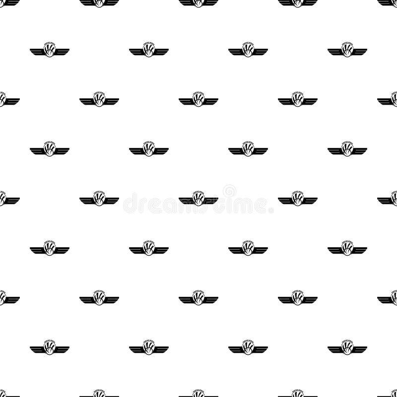 Le ali del combattente modellano il vettore senza cuciture royalty illustrazione gratis