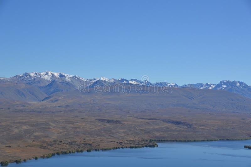 Le alpi del sud in Nuova Zelanda fotografia stock