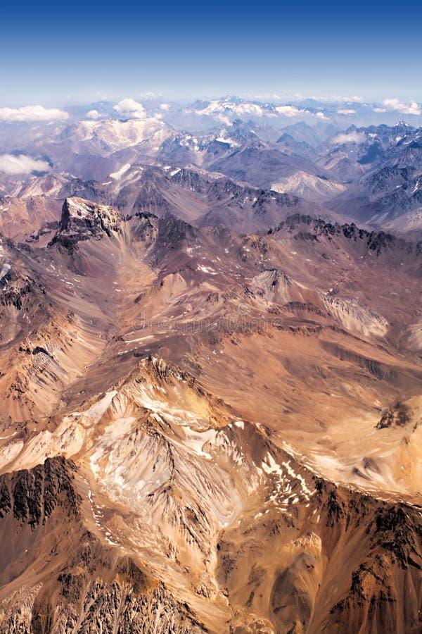 Le Ande nel Cile immagine stock libera da diritti