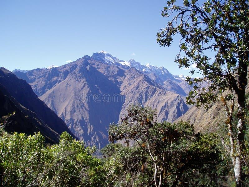 Le Ande sulla traccia del Inca fotografie stock libere da diritti