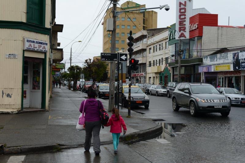 Le arene di Punta è una città nel Cile immagine stock libera da diritti