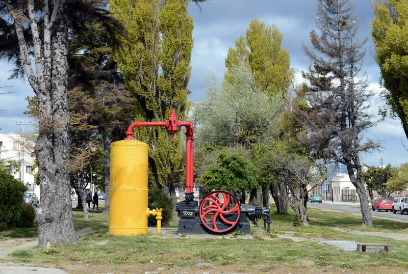 Le arene di Punta è una città nel Cile fotografie stock