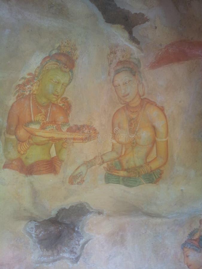 Le arti delle donne di Sigiri immagine stock