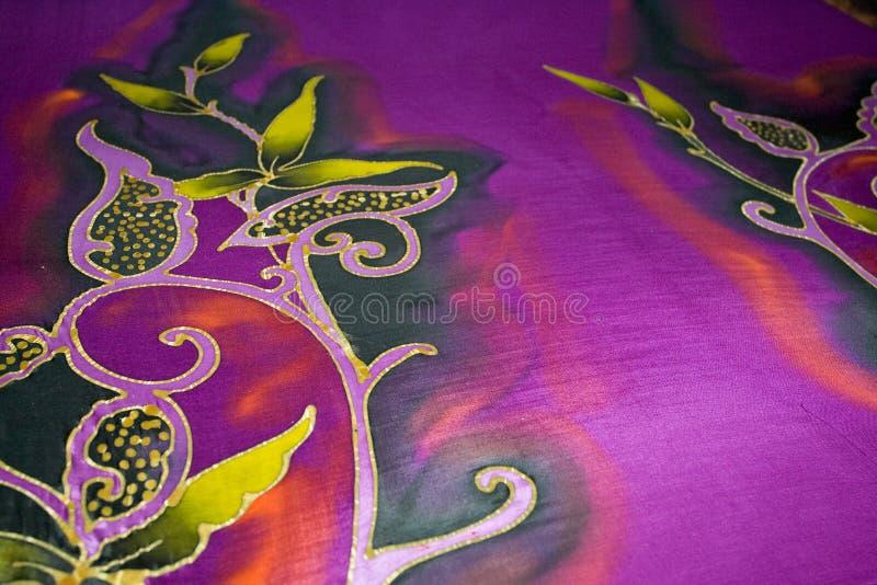 Le arti di batik malese fotografie stock
