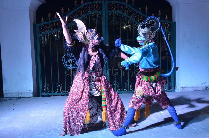Le attrazioni del ballo di Ramayana al Jogja fotografia stock libera da diritti