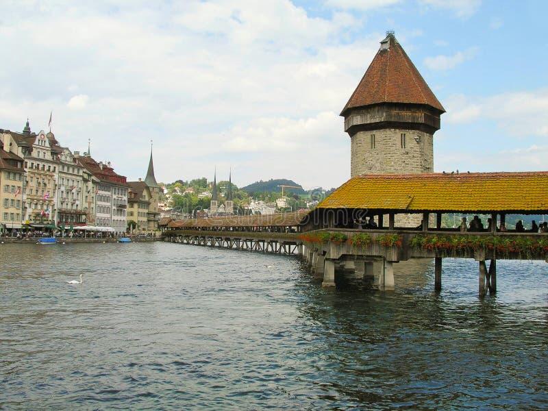 Le attrazioni principali di Lucerna, Svizzera immagine stock libera da diritti