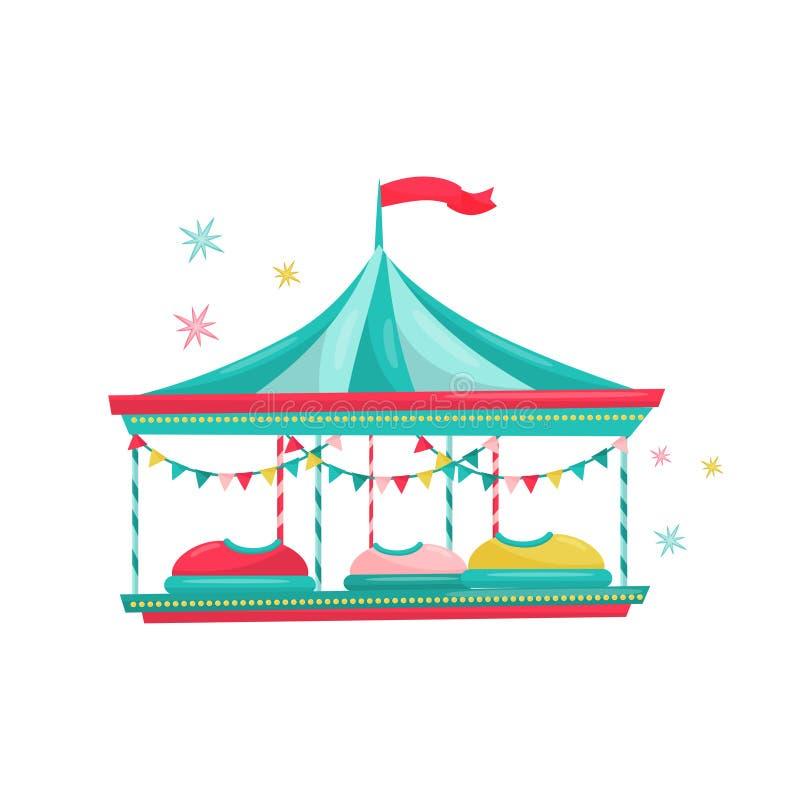 Le automobili di paraurti guidano Attrazione di carnevale di divertimento per i bambini Attrezzatura del parco di divertimenti Te illustrazione di stock