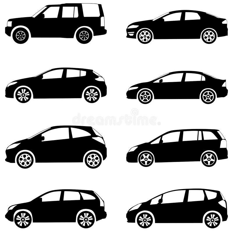 Le Automobili Profilano L Insieme Fotografie Stock Libere da Diritti