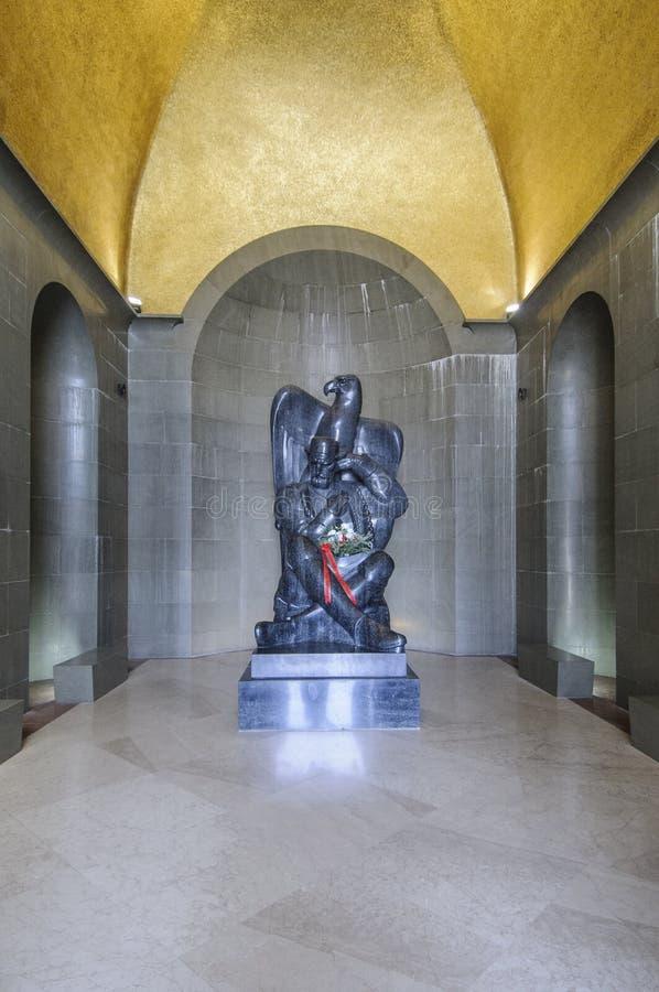 Le bâti lovcen, le Monténégro, l'Europe, mausolée des njegos petrovic de prince-évêque II petar image stock