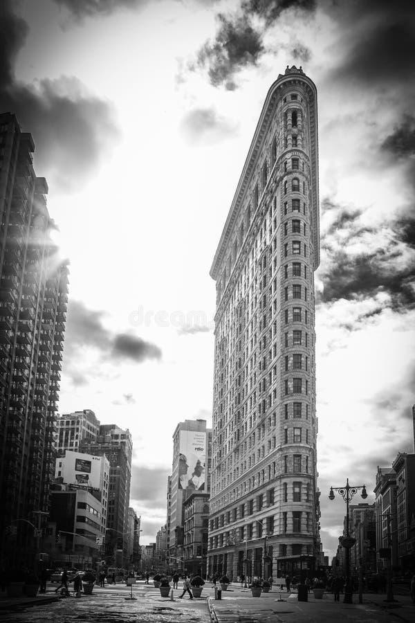 Le bâtiment célèbre de fer à repasser - New York City images libres de droits
