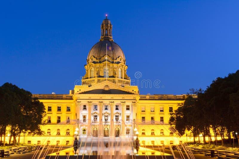 Le bâtiment d'Alberta Legislature à Edmonton images libres de droits