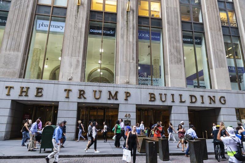 Le bâtiment d'atout à Manhattan, New York City, Etats-Unis photo stock