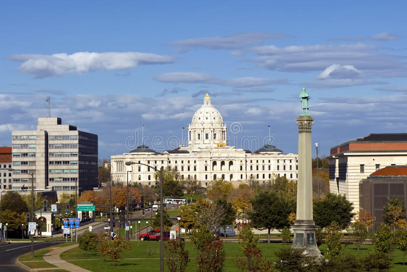 Le bâtiment de capitol d'état du Minnesota, Saint Paul, Minnesota, Etats-Unis images stock