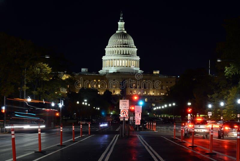 Le bâtiment de capitol dans le Washington DC, capitale des Etats-Unis d'Amérique photos stock