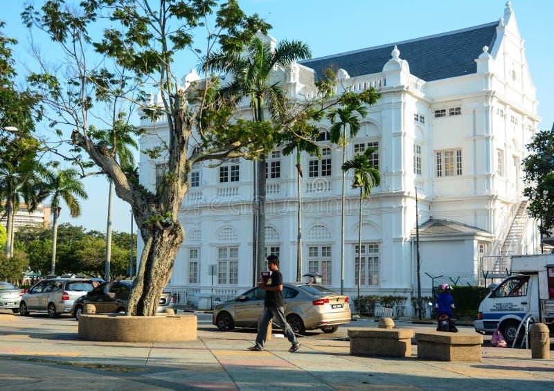 Le bâtiment de gouvernement au centre ville à Penang, Malaisie photos stock