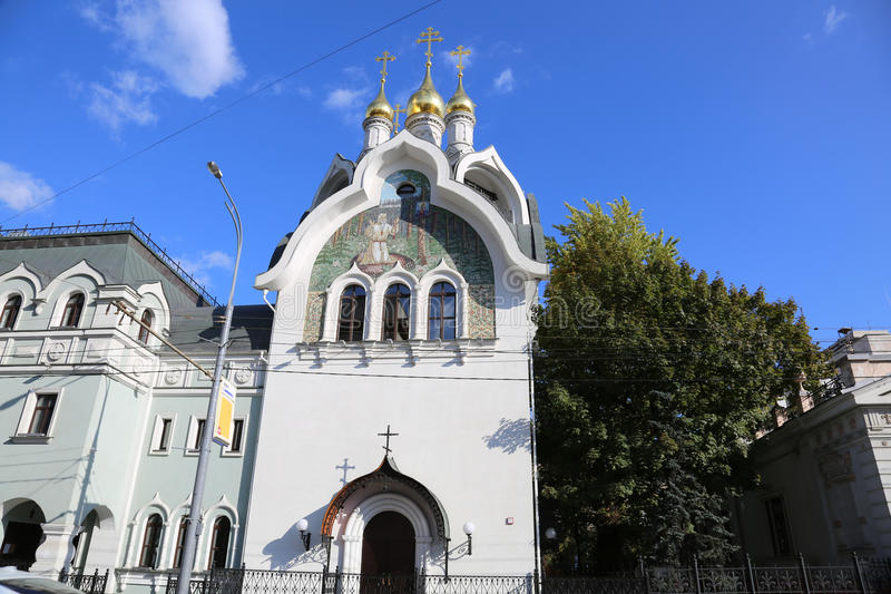 Le bâtiment de l'église orthodoxe russe à Moscou photos stock