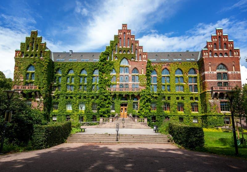 Le bâtiment de la bibliothèque universitaire à Lund, Suède Le buil images libres de droits