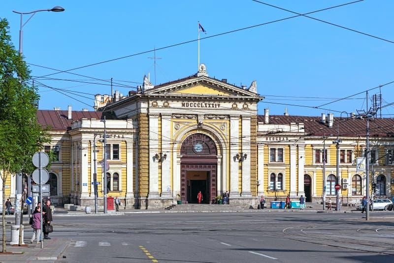Le bâtiment de la gare ferroviaire de Belgrade, Serbie photos stock
