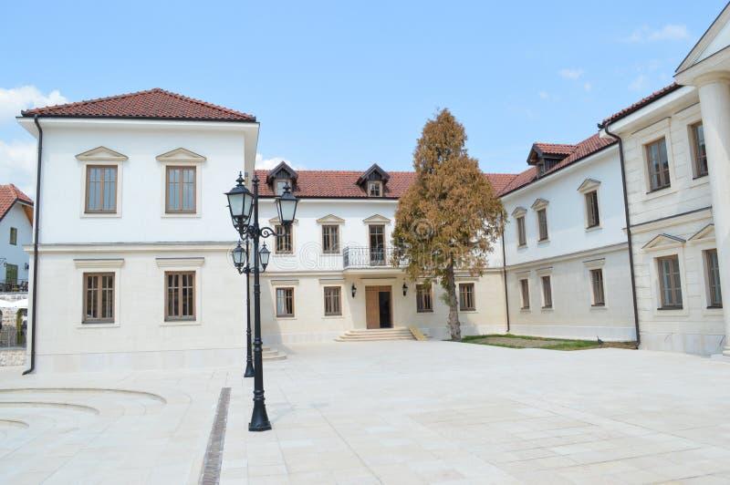 Le bâtiment de la ville de marbre d'Andric images libres de droits