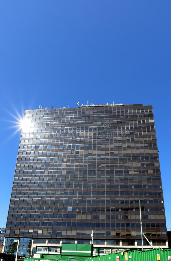 Le bâtiment de McClaren, Birmingham image libre de droits
