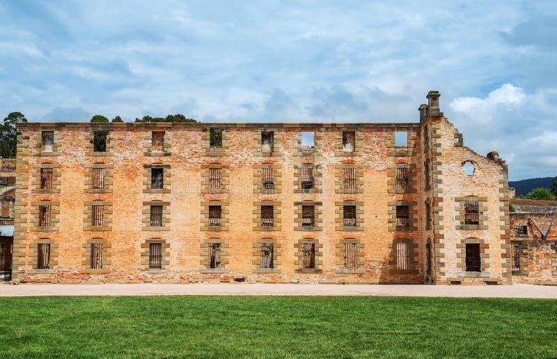 Le bâtiment de prison au Port Arthur en Tasmanie, Australie photos stock