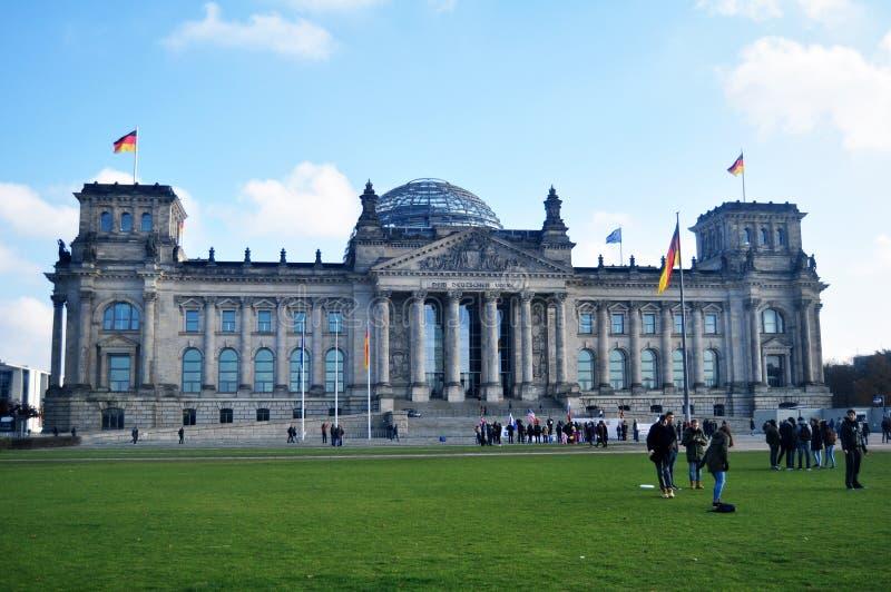 Le bâtiment de Reichstag est édifice historique à Berlin, Allemagne images libres de droits