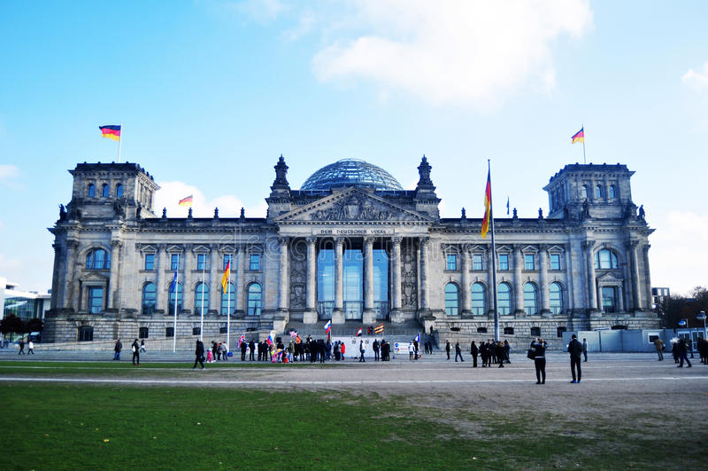 Le bâtiment de Reichstag est édifice historique à Berlin, Allemagne photographie stock libre de droits