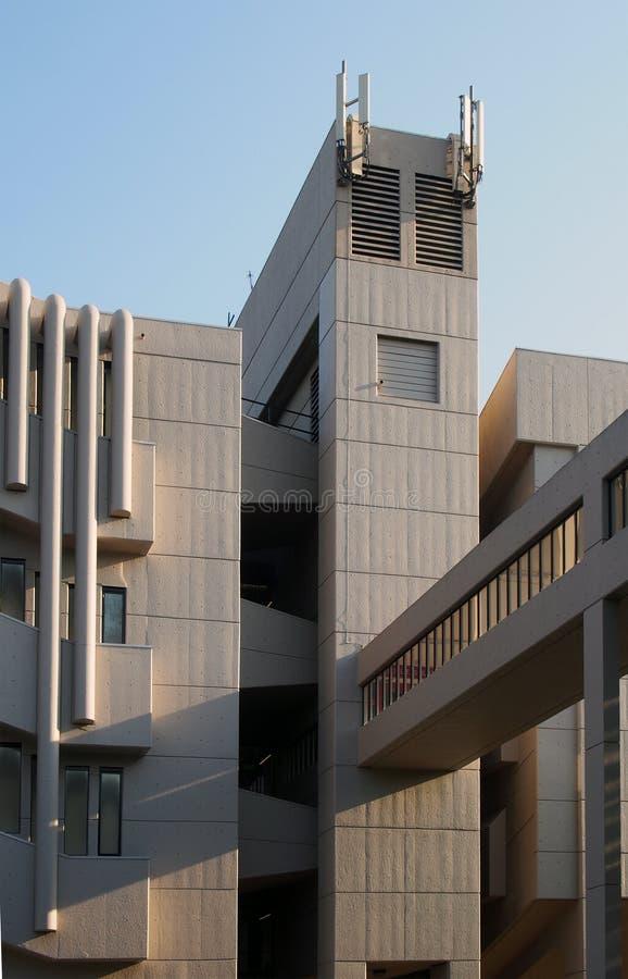 Le bâtiment de Roger Stevens à l'université de Leeds un bâtiment en béton de brutalist par le chambellan powell et la fève 1970 images libres de droits