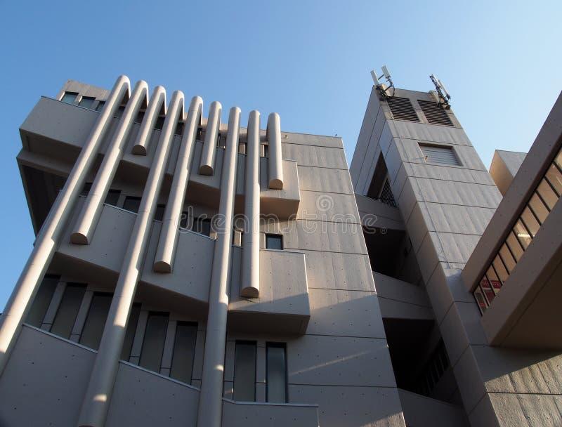 Le bâtiment de Roger Stevens à l'université de Leeds un bâtiment en béton de brutalist par le chambellan powell et la fève 1970 photographie stock