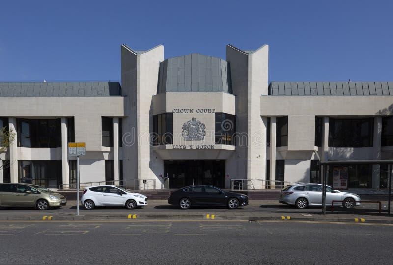 Le bâtiment de Tribunal Pénal à Swansea photographie stock
